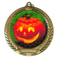 "2-3/4"" Halloween Holographic Mylar Medal MM292-FCL-493"