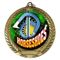 "2-3/4"" Horseshoes Holographic Mylar Medal MM292-FCL-497"