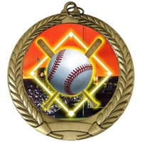 "2-3/4"" Full Color Series Baseball Diamond Medal MM292-FCL-5"