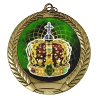 "2-3/4"" King Holographic Mylar Medal MM292-FCL-501"