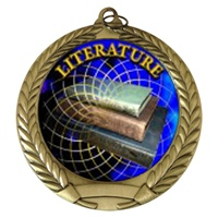 "2-3/4"" Literature Holographic Mylar Medal MM292-FCL-506"
