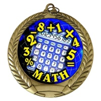 "2-3/4"" Math Holographic Mylar Medal MM292-FCL-510"