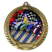 "2-3/4"" Pinewood Derby Holographic Mylar Medal MM292-FCL-522"