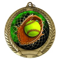 "2-3/4"" Softball Holographic Mylar Medal MM292-FCL-546"