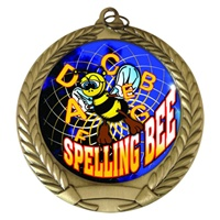 "2-3/4"" Spelling Bee Holographic Mylar Medal MM292-FCL-554"