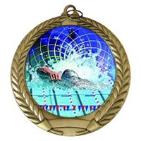 "2-3/4"" Swimming Holographic Mylar Medal MM292-FCL-560"