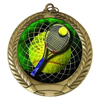 "2-3/4"" Tennis Holographic Mylar Medal MM292-FCL-566"