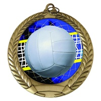 "2-3/4"" Volleyball Holographic Mylar Medal MM292-FCL-572"