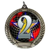 "2-3/4"" 2nd Place Holographic Mylar Medal MM292-FCL-582"