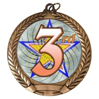 "2-3/4"" 3rd Place Holographic Mylar Medal MM292-FCL-583"