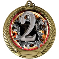 "2-3/4"" BURST Insert 2nd Place Medal MM292-FCL-752"