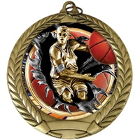 "2-3/4"" BURST Insert Boys Basketball Medal MM292-FCL-755"