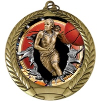 "2-3/4"" BURST Insert Girls Basketball Medal MM292-FCL-756"