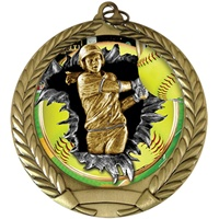 "2-3/4"" BURST Insert Softball Medal MM292-FCL-767"