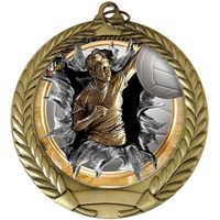 "2-3/4"" BURST Insert Female Volleyball Medal MM292-FCL-788"