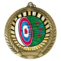 "2-3/4"" Archery SUNBURST Mylar Medal MM292-MY300"