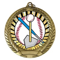 "2-3/4"" T-Ball SUNBURST Mylar Medal MM292-MY303"