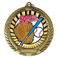 "2-3/4"" Softball SUNBURST Mylar Medal MM292-MY304"