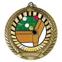 "2-3/4"" Billiards SUNBURST Mylar Medal MM292-MY307"