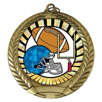 "2-3/4"" Football SUNBURST Mylar Medal MM292-MY316"