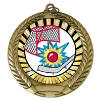 "2-3/4"" Street Hockey SUNBURST Mylar Medal MM292-MY321"