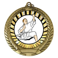 "2-3/4"" Karate SUNBURST Mylar Medal MM292-MY323"