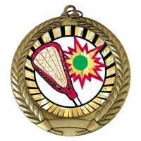 "2-3/4"" Lacrosse SUNBURST Mylar Medal MM292-MY324"