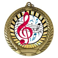 "2-3/4"" Music SUNBURST Mylar Medal MM292-MY326"
