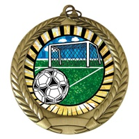 "2-3/4"" Soccer SUNBURST Mylar Medal MM292-MY332"