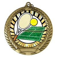 "2-3/4"" Tennis SUNBURST Mylar Medal MM292-MY334"