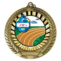 "2-3/4"" Track SUNBURST Mylar Medal MM292-MY335"
