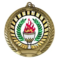 "2-3/4"" Victory SUNBURST Mylar Medal MM292-MY336"