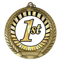 "2-3/4"" First Place Sun Mylar Medal MM292-MY339"