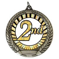 "2-3/4"" Second Place Sun Mylar Medal MM292-MY340"
