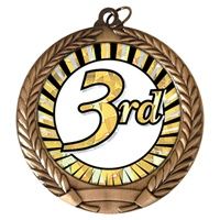 "2-3/4"" Third Place Sun Mylar Medal MM292-MY341"