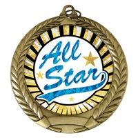 "2-3/4"" All Star SUNBURST Mylar Medal MM292-MY346"