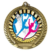 "2-3/4"" Modern Dance SUNBURST Mylar Medal MM292-MY351"