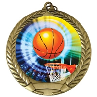 "2-3/4"" Basketball Medal"