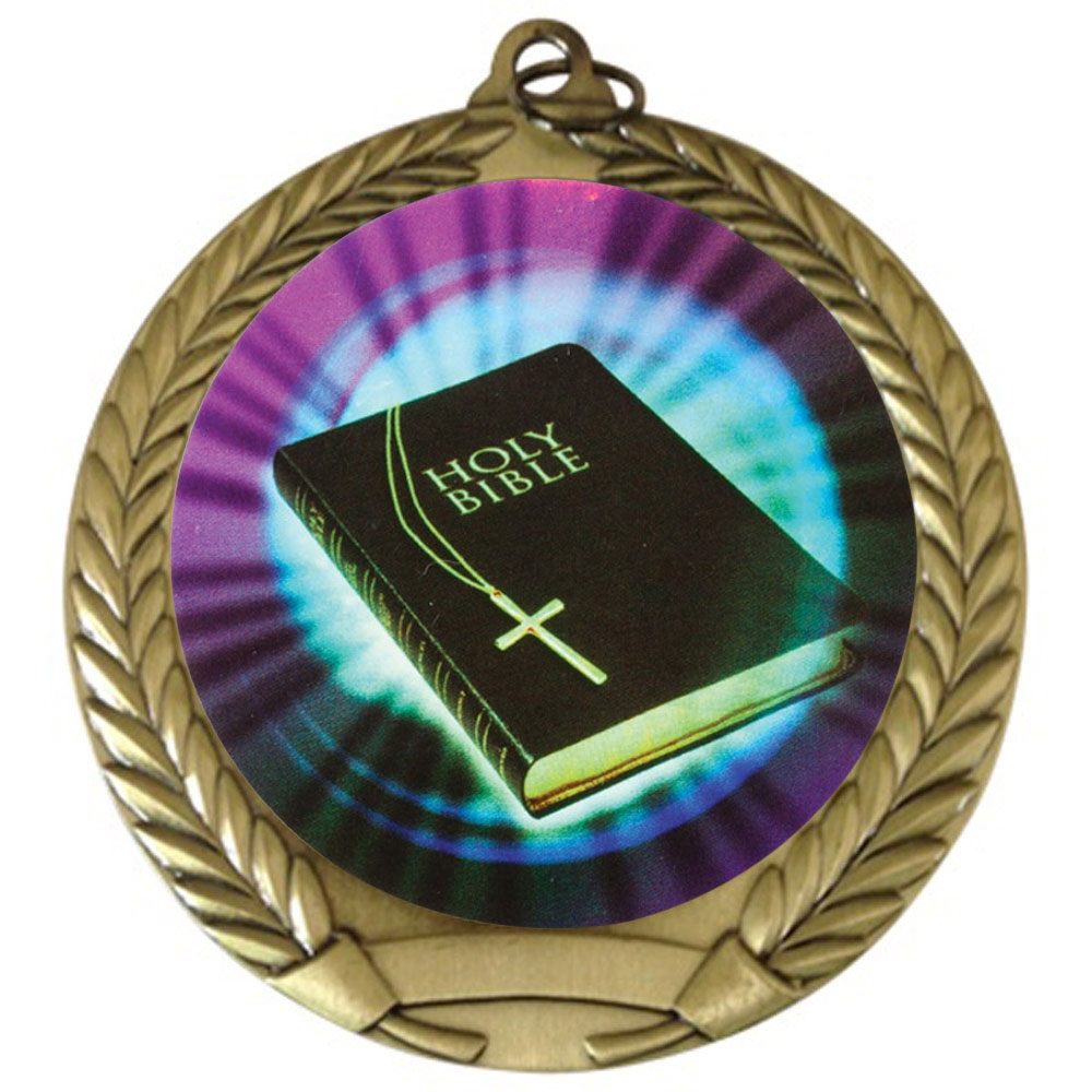 "2-3/4"" Holy Bible Medal"