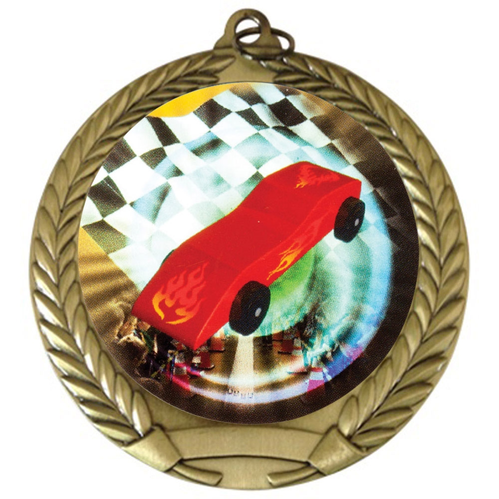 "2-3/4"" Pinewood Derby Medal"