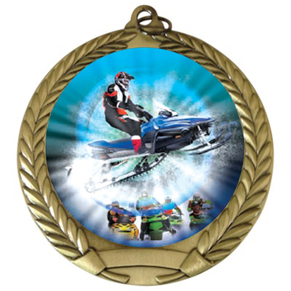 "2-3/4"" Snow Mobile Medal"