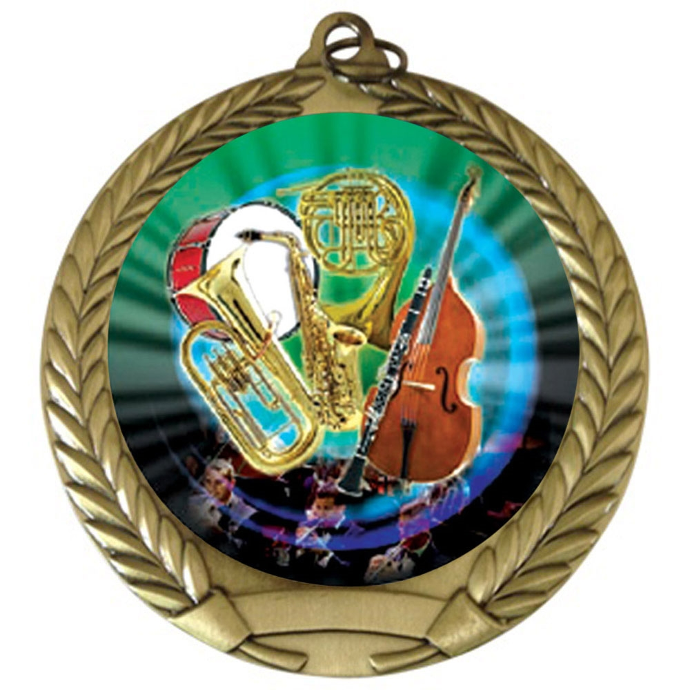 "2-3/4"" Band Orchestra Medal"