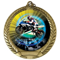 "2-3/4"" Motorcycle Racing Medal"