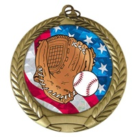 "2-3/4"" USA Baseball Medal MM292-MY500"