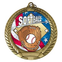 "2-3/4"" Softball USA Mylar Medal MM292-MY502"