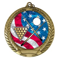 "2-3/4"" Billiards USA Mylar Medal MM292-MY504"