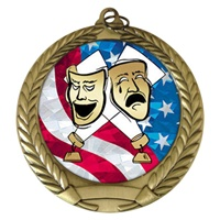 "2-3/4"" Drama USA Mylar Medal MM292-MY508"