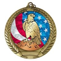 "2-3/4"" Eagle USA Mylar Medal MM292-MY509"