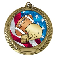 "2-3/4"" Football USA Mylar Medal MM292-MY510"