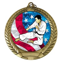 "2-3/4"" Karate USA Mylar Medal MM292-MY514"